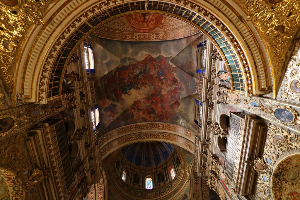 ceiling Basilica of San Juan de Dios in Granada Spain