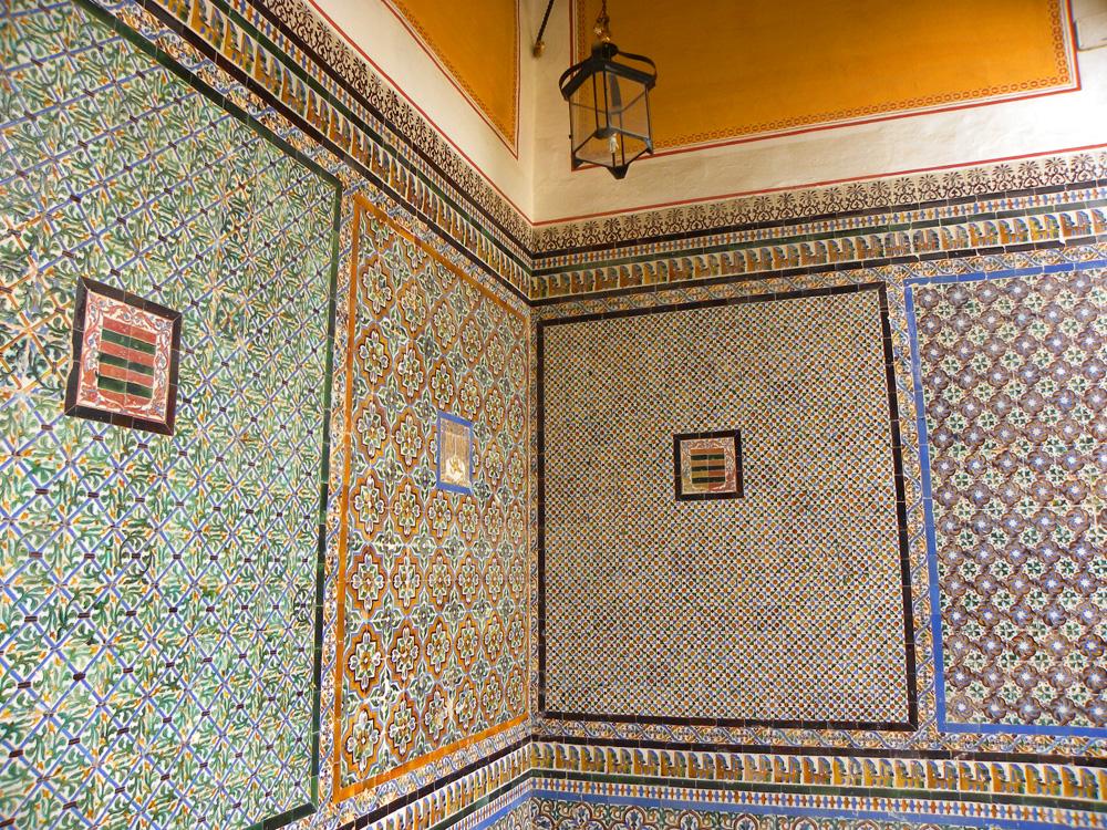Colorful tiles at Casa de Pilatos
