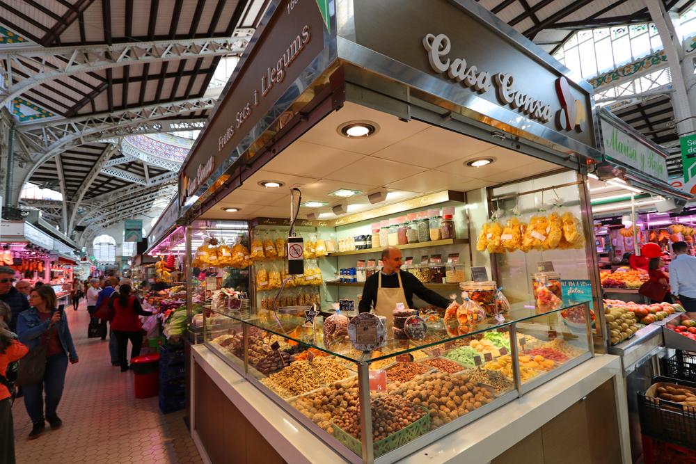 Stores in Valencia's Central Market
