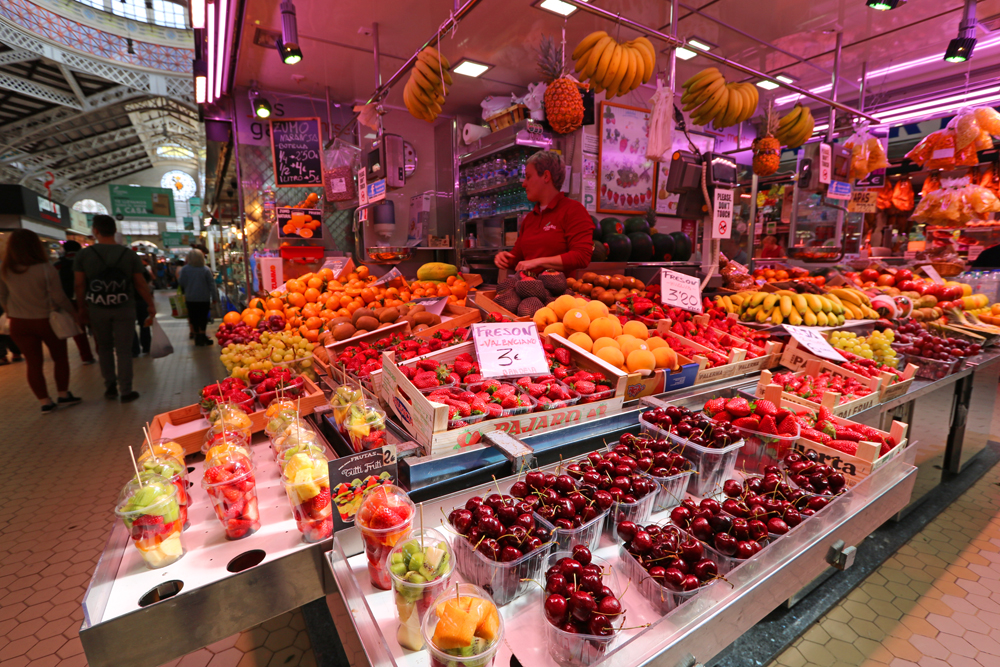 fruits in Valencia's Central Market