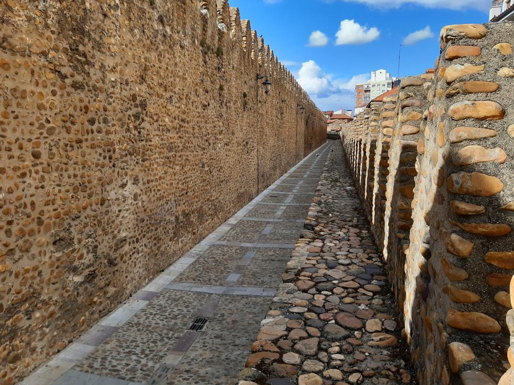 Roman stone walls in Leon Spain