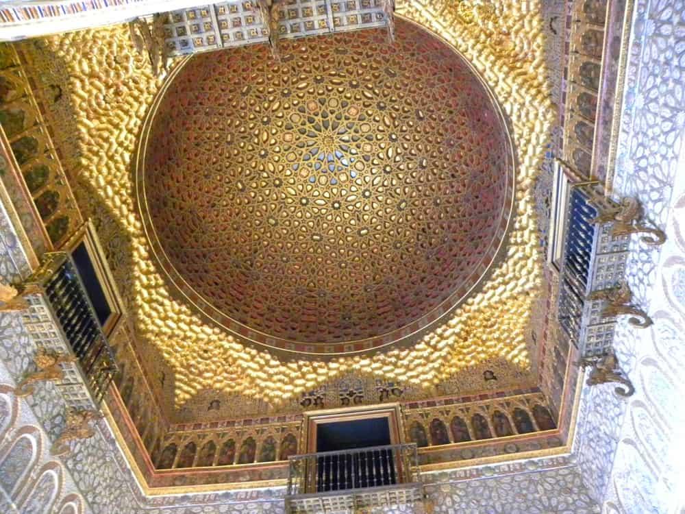 Ceiling of the Ambassador's Hall, Real Alcazar, Seville