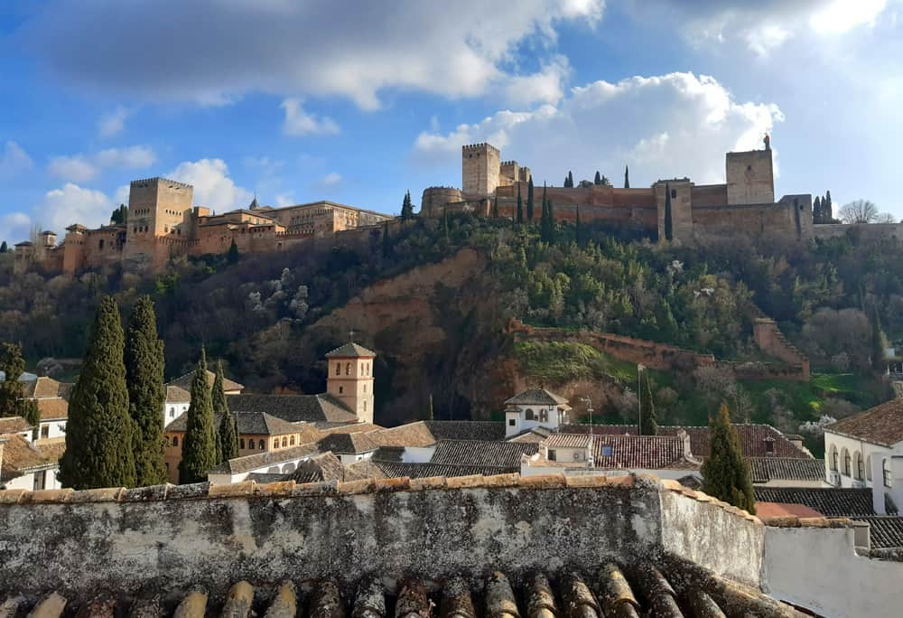 The Alhambra, looking over Granada