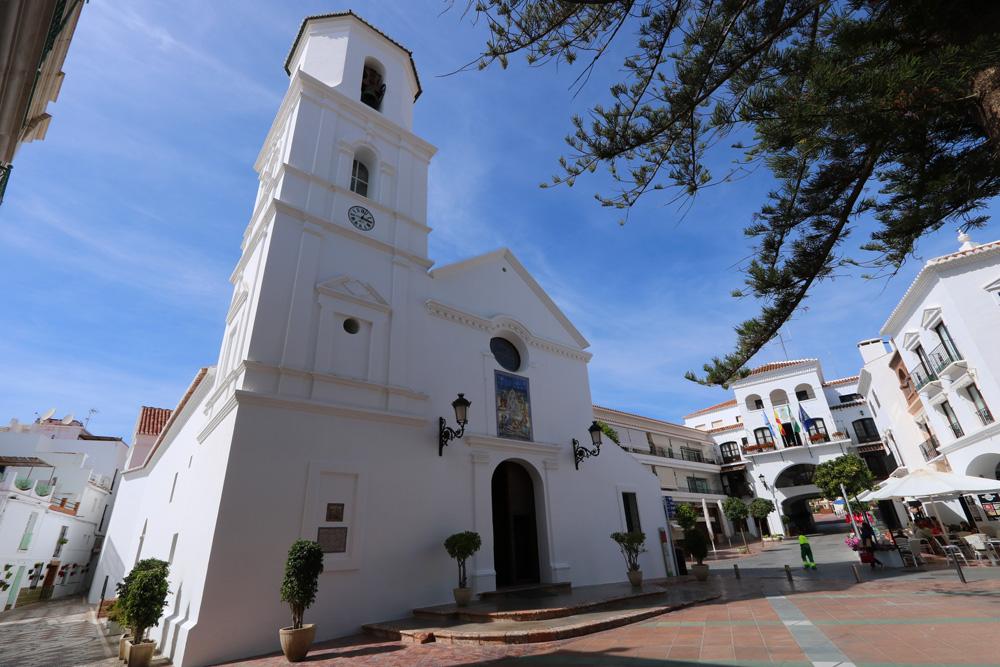 Salvador Church on Plaza Balcon de Europa, Nerja