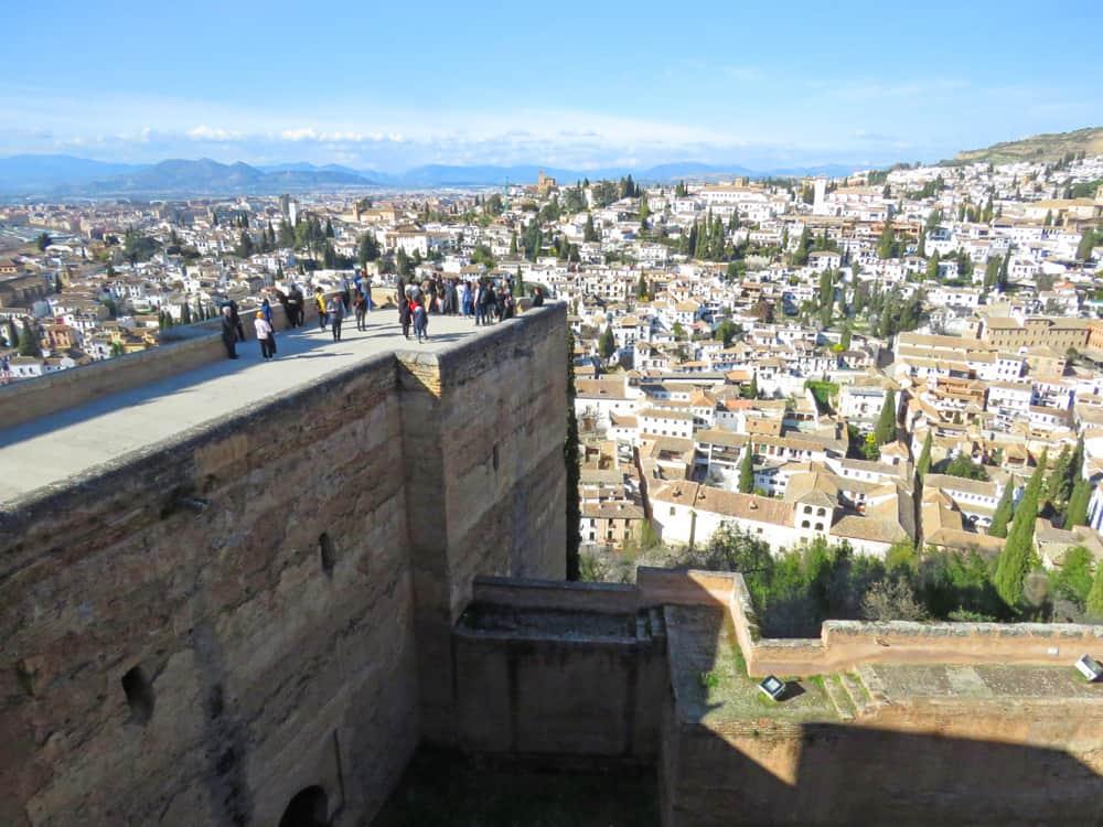 Views of Granada from the Alcazaba, Alhambra