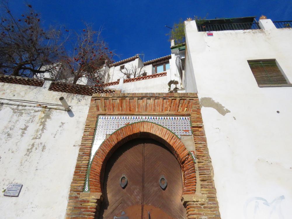 Moorish door in Albaycin, Granada