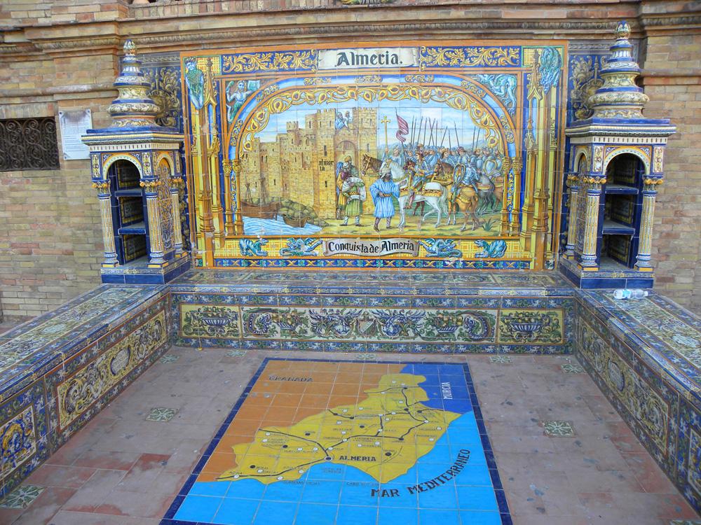 alcoves of the provinces in Plaza de Espana